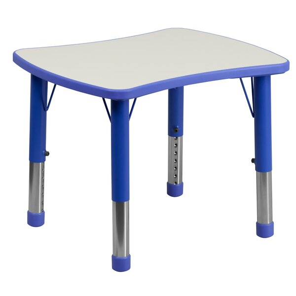 Adjustable Rectangular 27 Plastic Square Activity Table by Offex