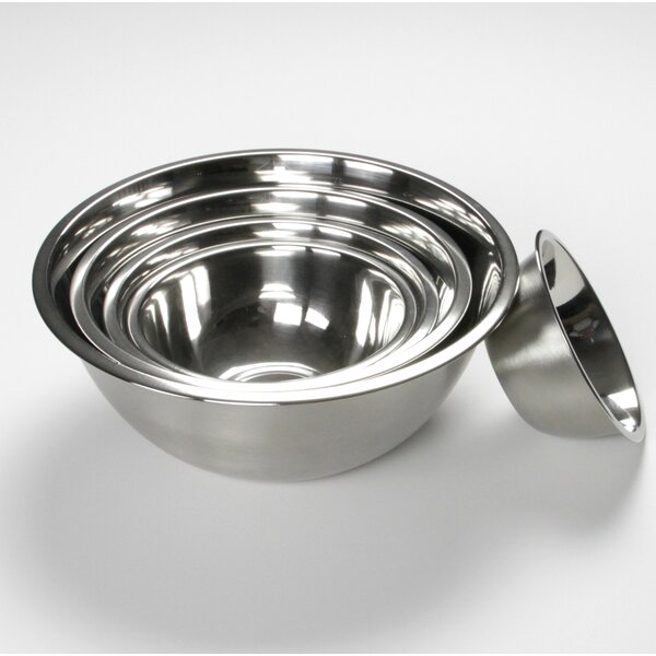 5-Piece Stainless Steel Mixing Bowl Set by Chef Craft