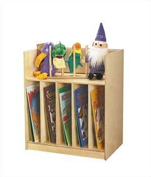 Folding 6 Compartment Book Display with Casters by Jonti-Craft