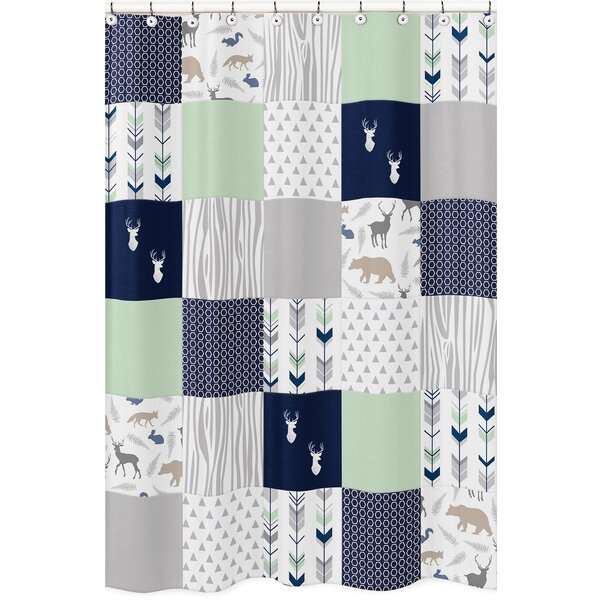 Woodsy Microfiber Shower Curtain by Sweet Jojo Designs