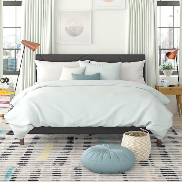 Bartley Geometric Platformed Upholstered Platform Bed by Trule Teen