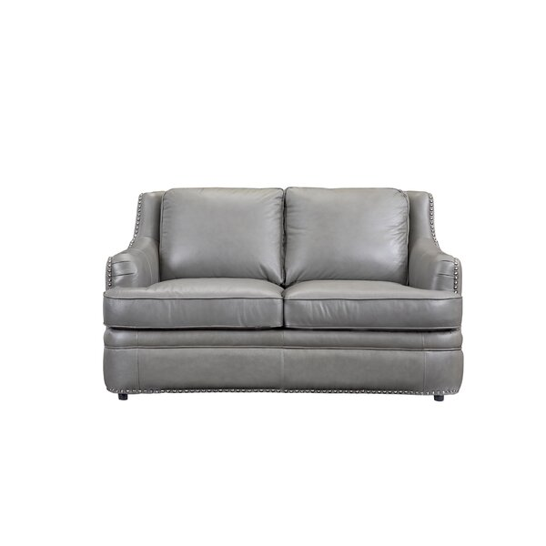 Dreyer Leather Loveseat By Canora Grey by Canora Grey 2019 Sale