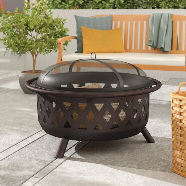 Hohl Steel Fire Pit By Alcott Hill.