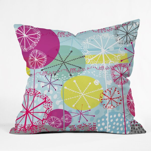 Rachael Taylor Snowflake Stems Indoor Throw Pillow by Deny Designs