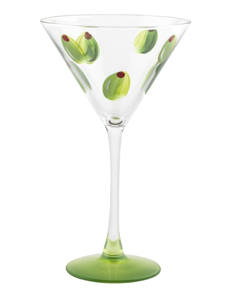 Olive Martini Glass by Pat Barker Designs