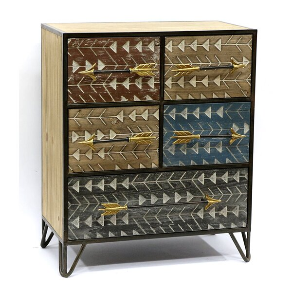 Arrowhead Storage 5 Drawer Accent Chest by Jeco Inc.
