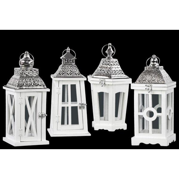 4 Piece Wood Lantern Set by Urban Trends