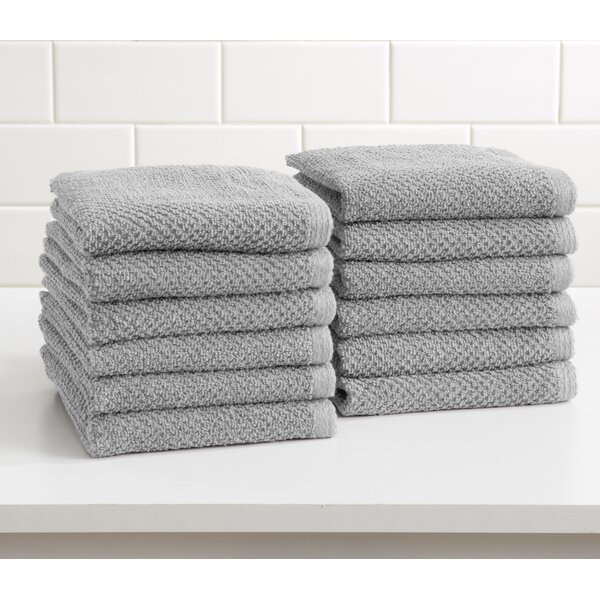 Marin Cotton Washcloth (Set of 12) by Alwyn Home