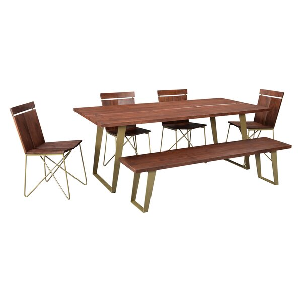 Sedona 6 Piece Solid Wood Dining Set by Union Rustic