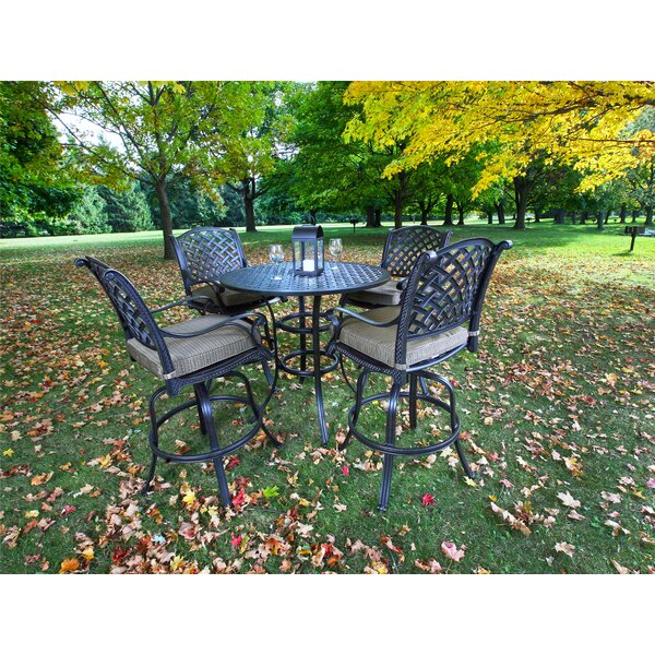 Kempf 5 Piece Bar Height Dining Set with Cushions by Darby Home Co