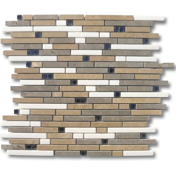 Fable Random Sized Marble Mosaic Tile in Prince Charming by Splashback Tile