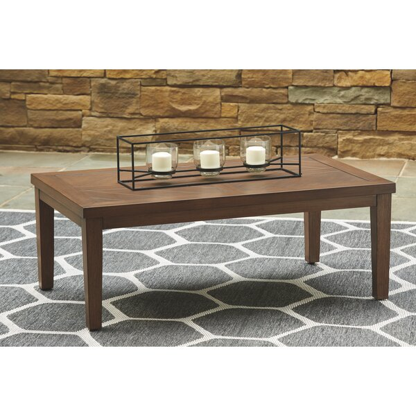 Estill Metal Coffee Table by Highland Dunes