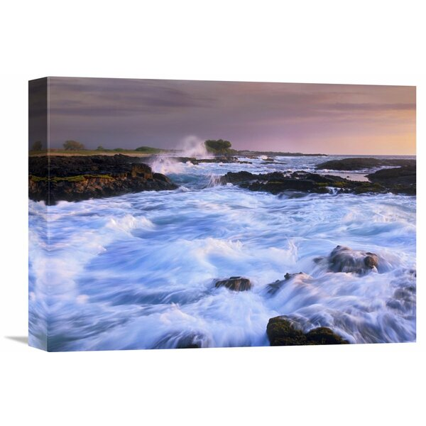 Nature Photographs Waves and Surf at Wawaloli Beach The Big Island, Hawaii by Tim Fitzharris Photographic Print on Wrapped Canvas by Global Gallery