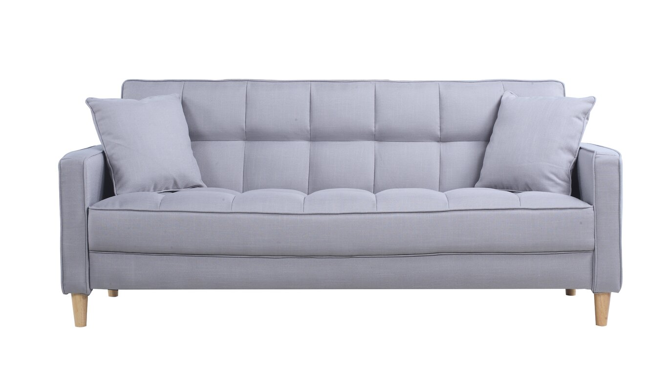 Modern Linen Fabric Tufted Small Space Sofa. Small Bedroom Couch   Wayfair