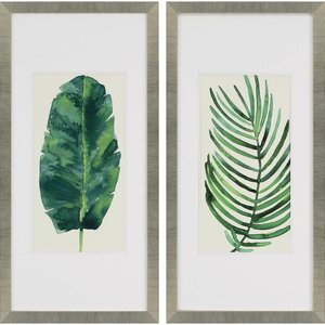 Palm Leaves II 2 Piece Framed Wall Art Set by Paragon