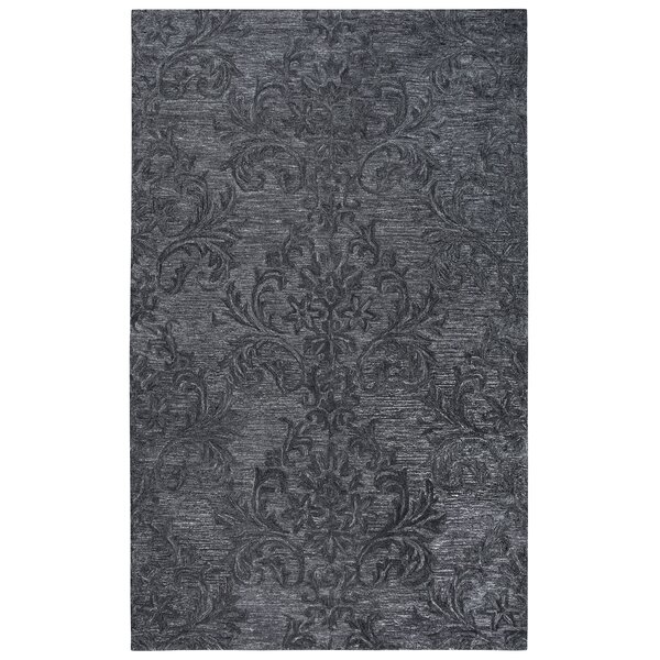 Etheredge Hand-Tufted Wool Dark Gray Area Rug by Red Barrel Studio