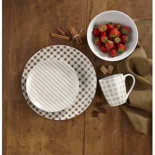 Buller 16 Piece Dinnerware Set Service for 4 & Lightweight Dinnerware Sets | Wayfair
