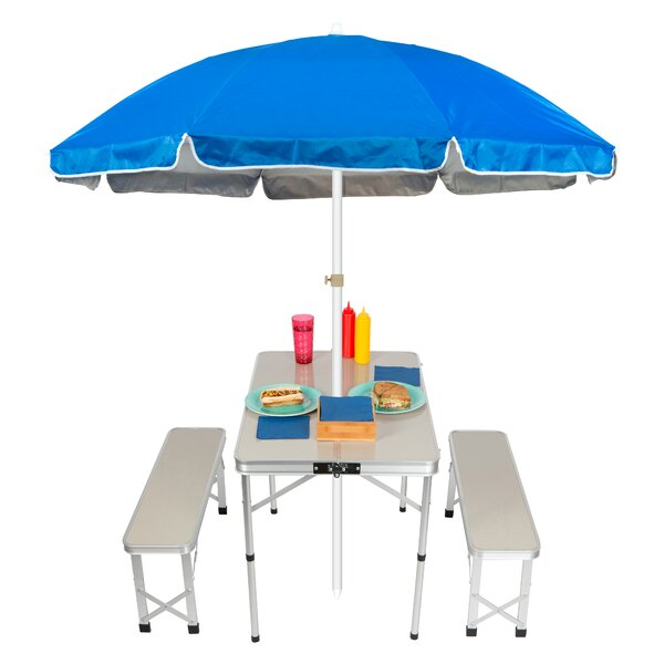 Folding Metal Camping Table by Trademark Innovations