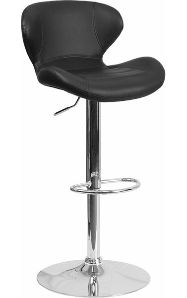 Whelan Mid Back Adjustable Height Swivel Bar Stool by Orren Ellis