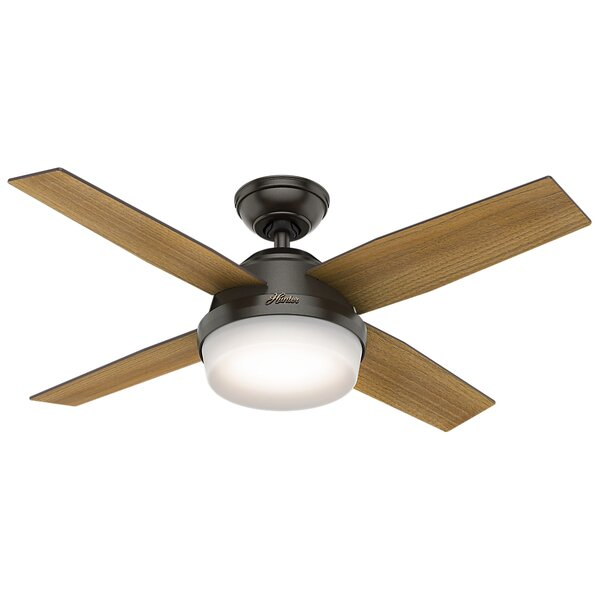 44 Dempsey 4 Blade LED Ceiling Fan with Remote by Hunter Fan