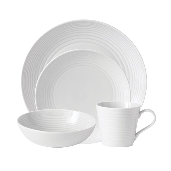Maze 4 Piece Place Setting, Service for 1 by Gordon Ramsay by Royal Doulton