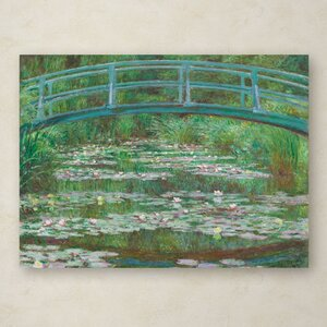 The Japanese Footbridge 1899 by Claude Monet Painting Print on Wrapped Canvas by Trademark Fine Art