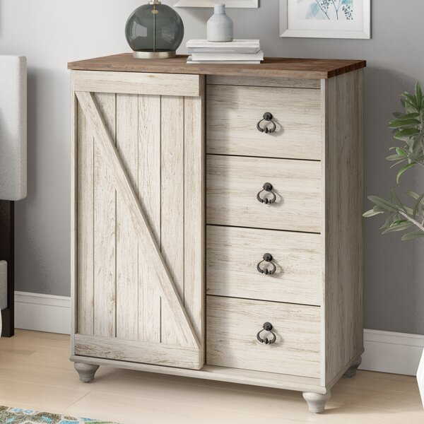 Theus 4 Drawer Gentlemans Combo Dresser by Charlton Home