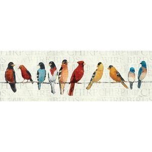 The Usual Suspects Birds on a Wire Wall Art on Wrapped Canvas by Red Barrel Studio
