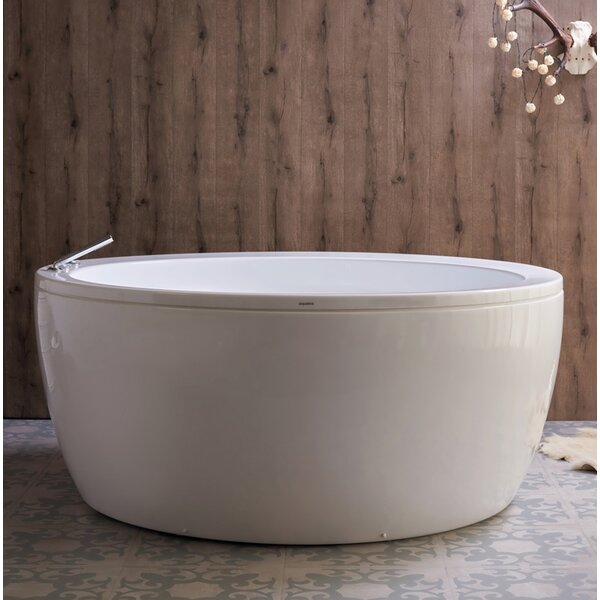 Pamela 68 x 68 Freestanding Soaking Bathtub by Aquatica