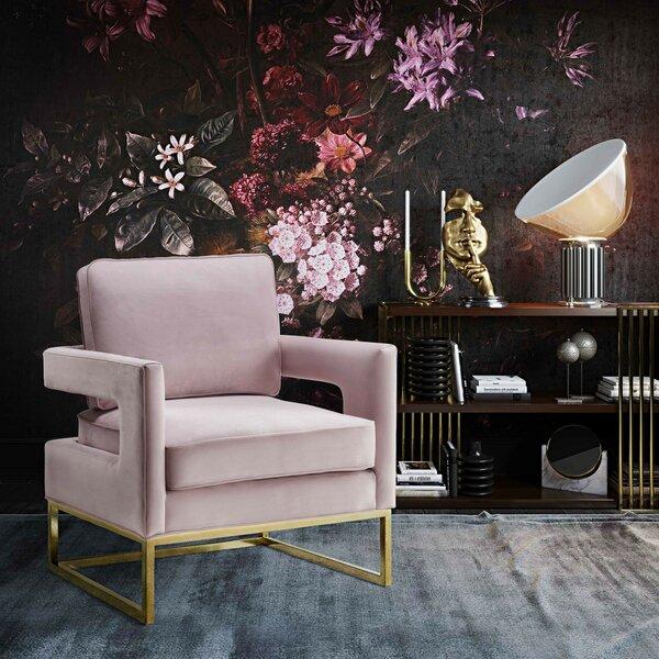 Jere Velvet Armchair by Everly Quinn