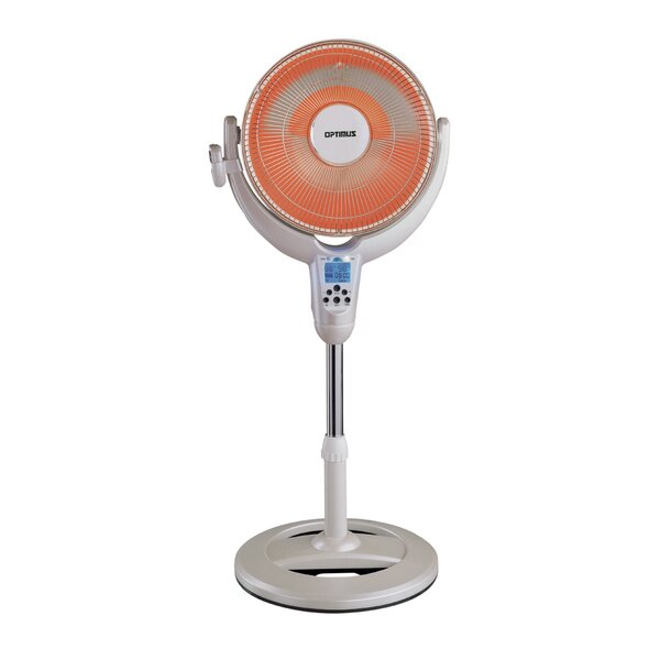 Portable Electric Radiant Compact Heater with Remote Control by Optimus