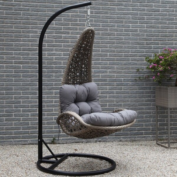 Lazaro Hanging Basket Chair with Cushion by Brayden Studio