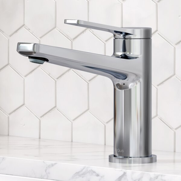 Indy Single Hole Bathroom Faucet with Drain Assembly