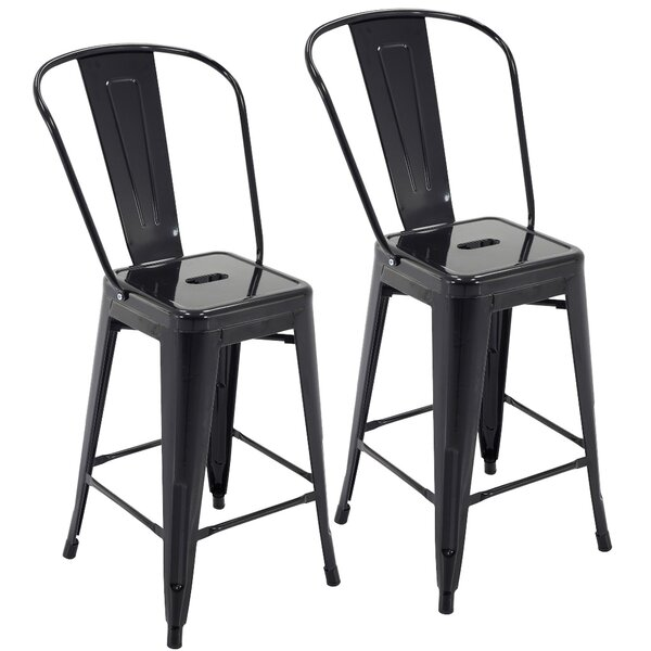 Nostrand 24 Bar Stool (Set of 2) by Ebern Designs