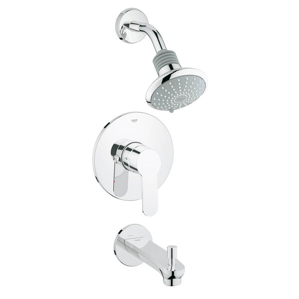 Cosmopolitan Tub and Shower Faucet with Lever Handle by Grohe