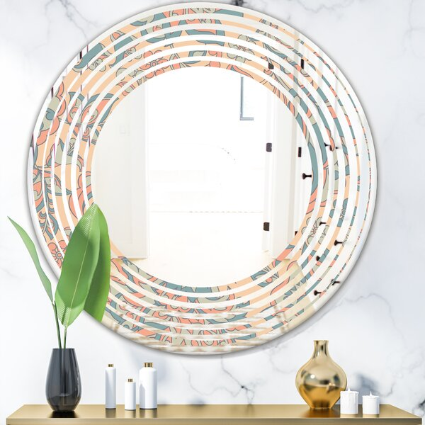 Leaves Abstract Design II Cottage Americana Wall Mirror