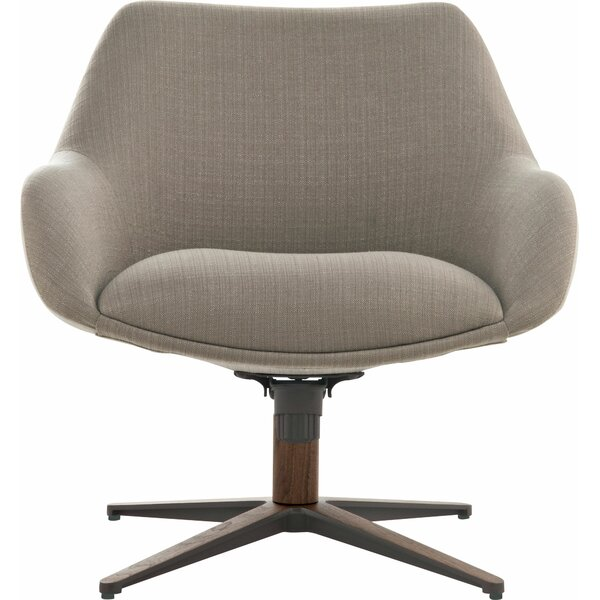 Cortlandt Swivel Lounge Chair by Modloft Black