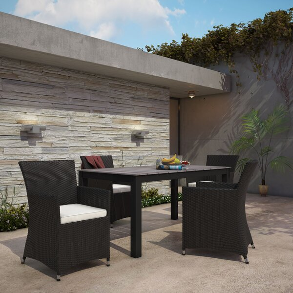 Bletchley Outdoor Patio 5 Piece Dining Set with Cushions by Brayden Studio