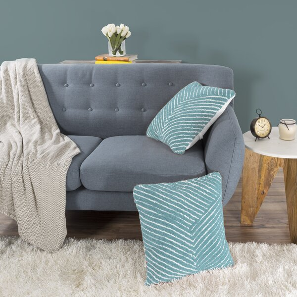 Mullan Stripe Throw Pillow by Ebern Designs