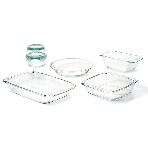 Good Grips 8 Piece Glass Bake, Serve and Store Set by OXO