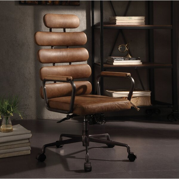 Ezequiel Genuine Leather Executive Chair by Corrigan Studio