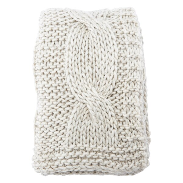 Forsan Chunky Knit Throw by Greyleigh