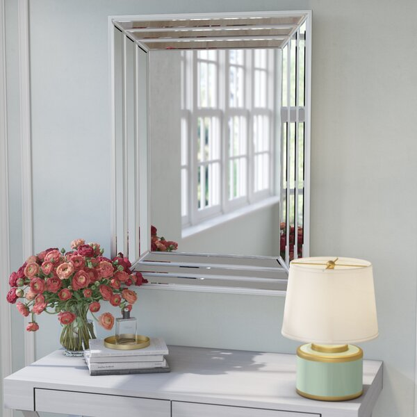 Beveled Rectangle Wall Mirror by Willa Arlo Interiors