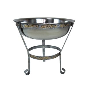 Patio Ice Bucket On Iron Stand | Wayfair