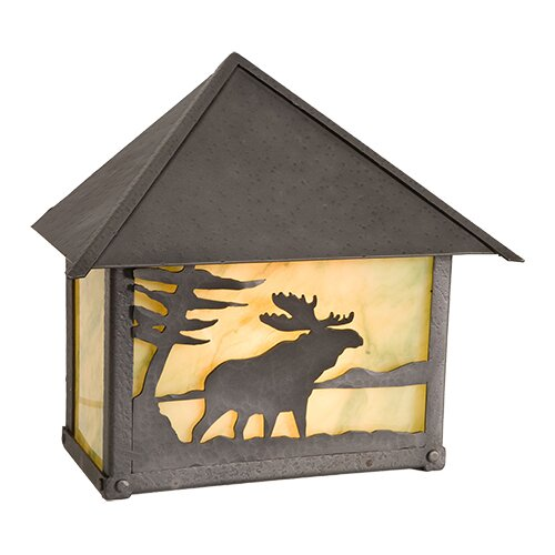Moose 1-Light Outdoor Flush Mount by Steel Partners