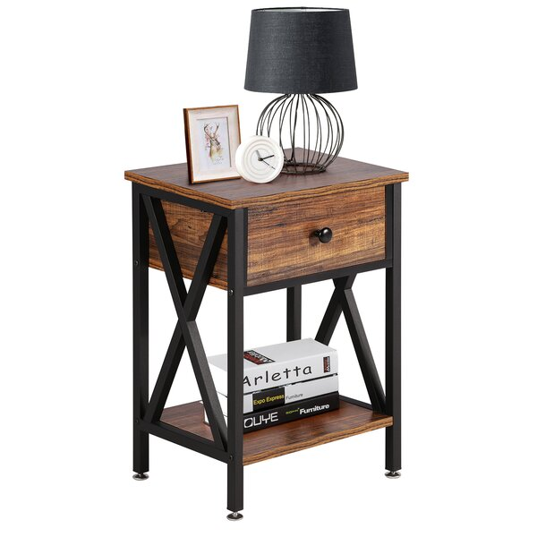 Uhrichsville 1 Drawer Nightstand By Loon Peak