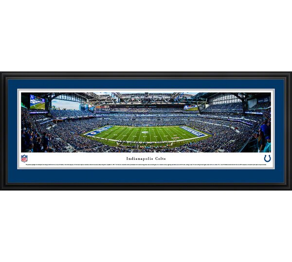 NFL Indianapolis Colts 50 Yard Line Framed Photographic Print by Blakeway Worldwide Panoramas, Inc