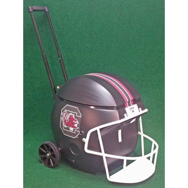 40 Qt. South Caolina Black Football Helmet Rolling Cooler by Coolr Coolrz