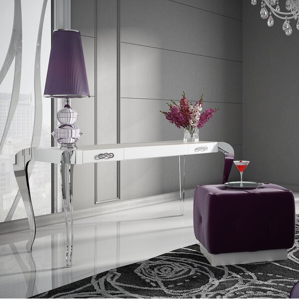 Kirkwood Bedroom Makeup Vanity Set With Mirror By Everly Quinn by Everly Quinn Herry Up