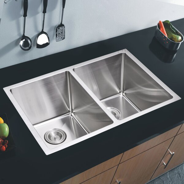 Brier 30.88 L x 17.75 W Double Undermount Kitchen Sink by dCOR design